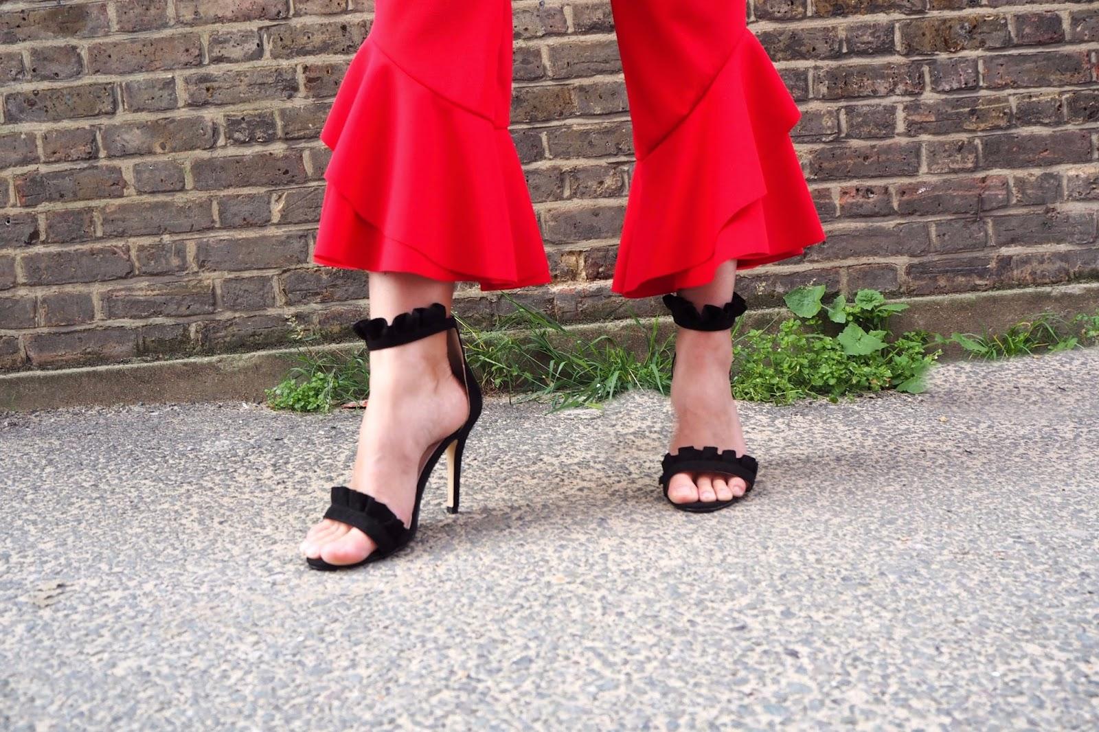 Frilly Black Heels