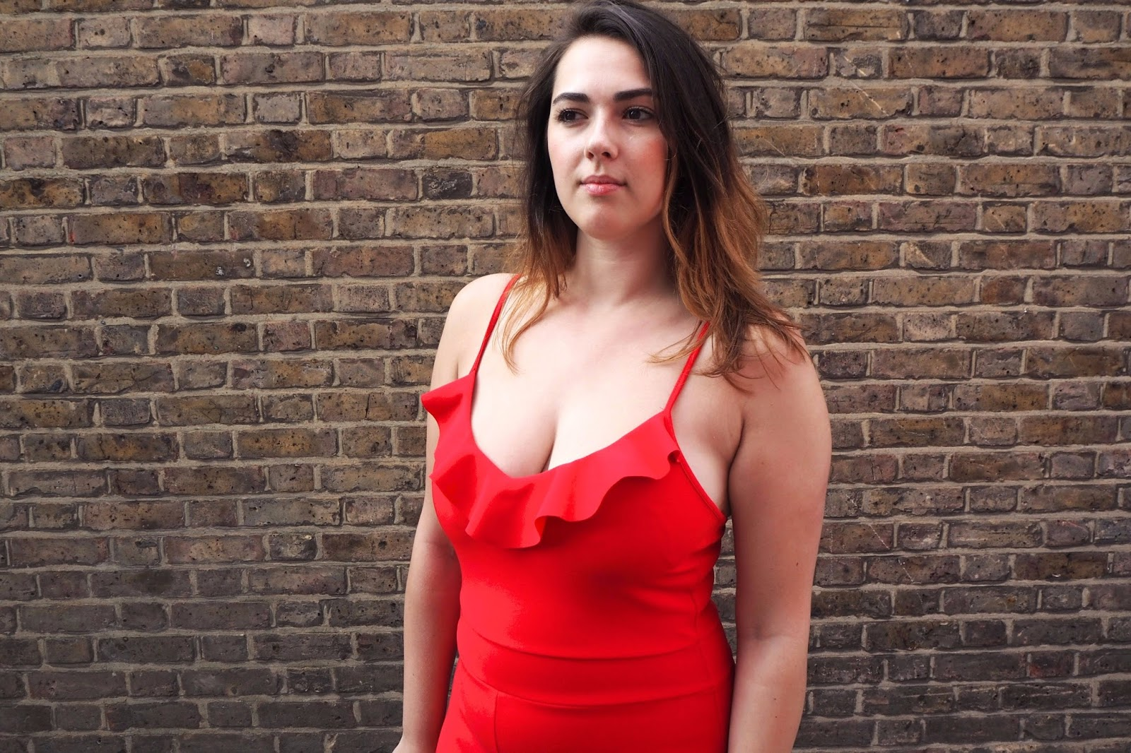 Red Frill Jumpsuit