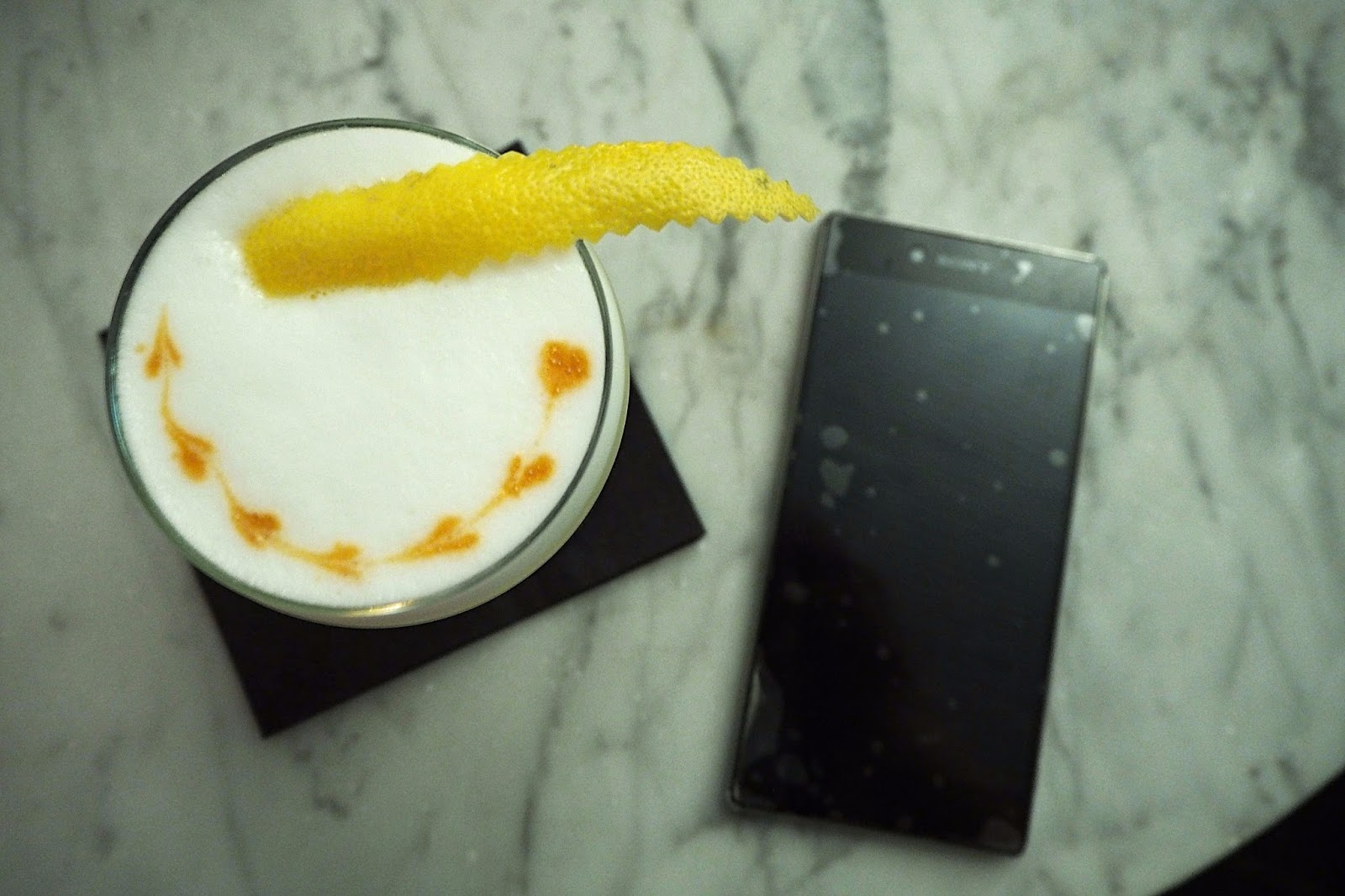 Cocktail on table