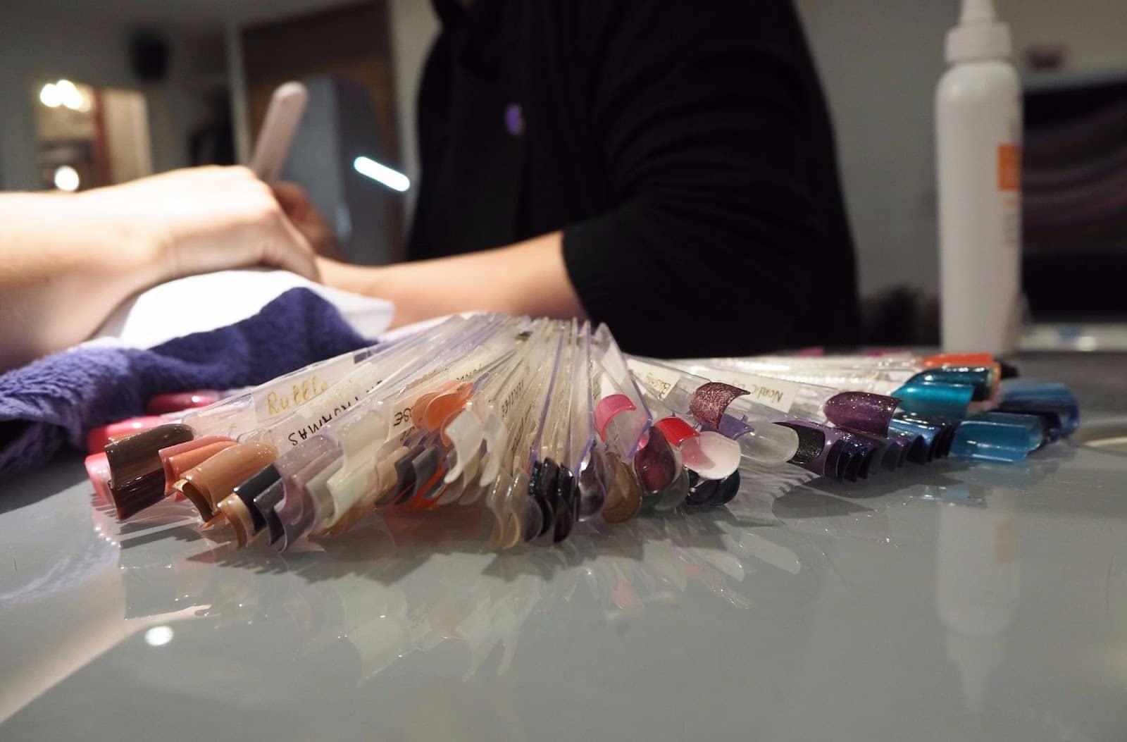 Nail colour selection