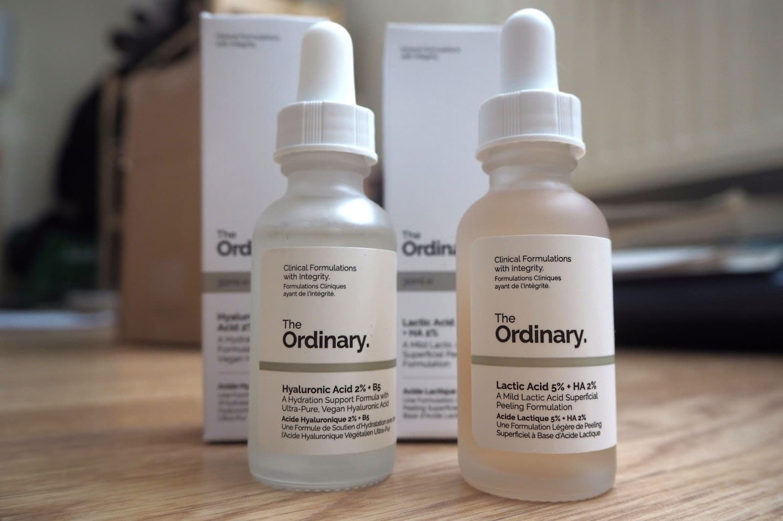 The Ordinary Acid Bottles