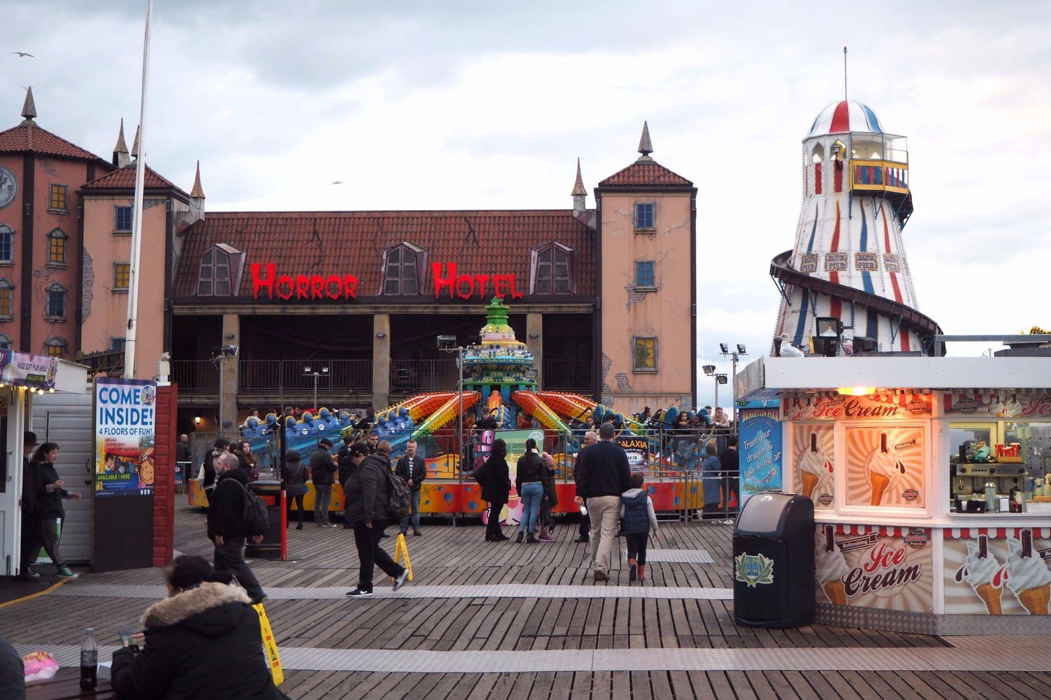 Horror Hotel on pier