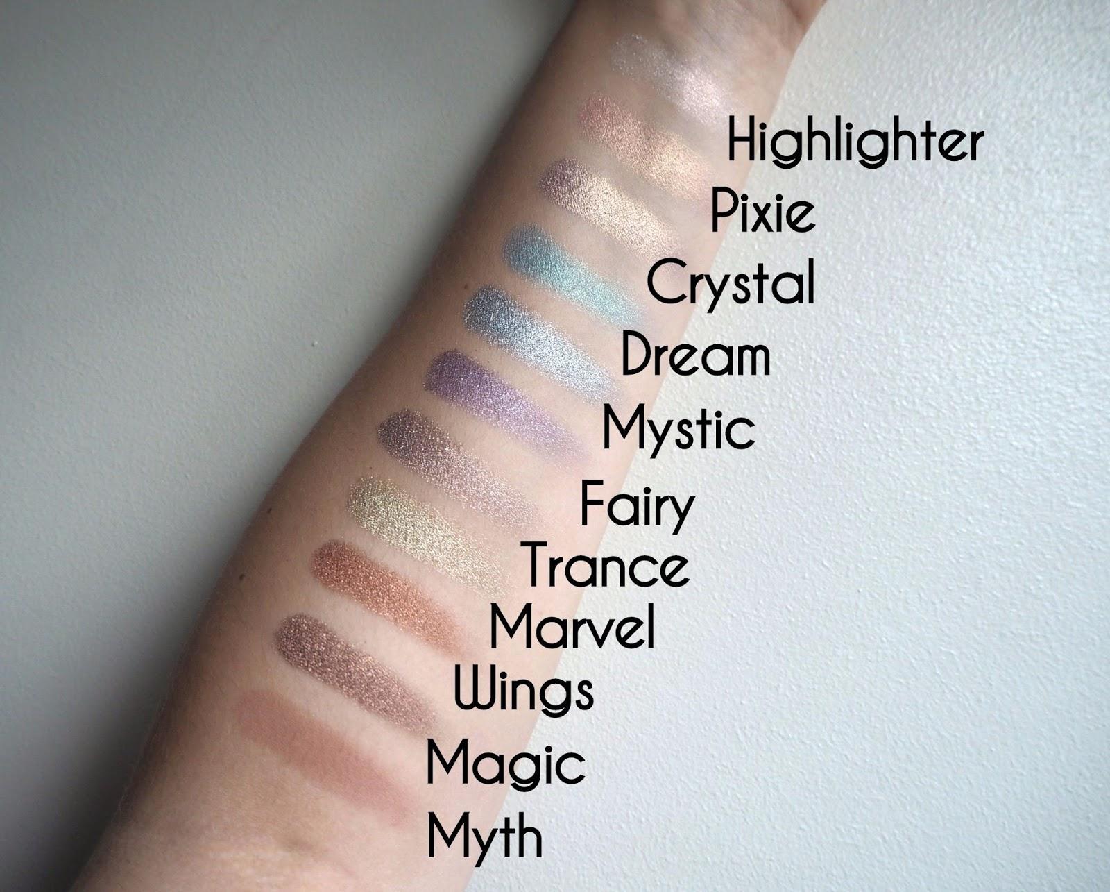 Make Believe Eyeshadow Swatches