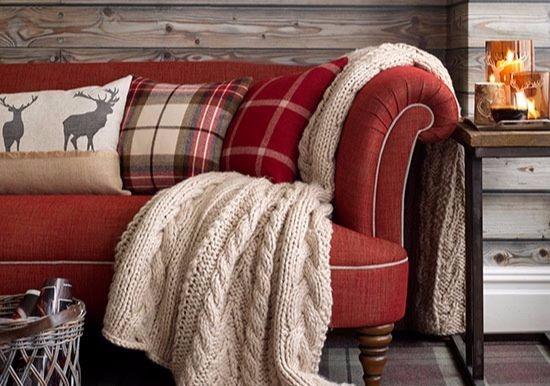 Red Tartan Sofa