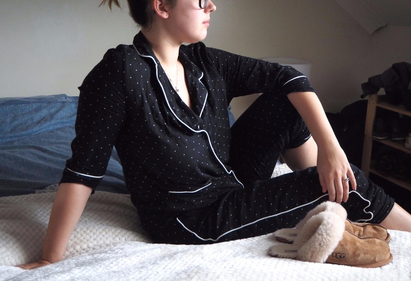 Lounging in pyjama set
