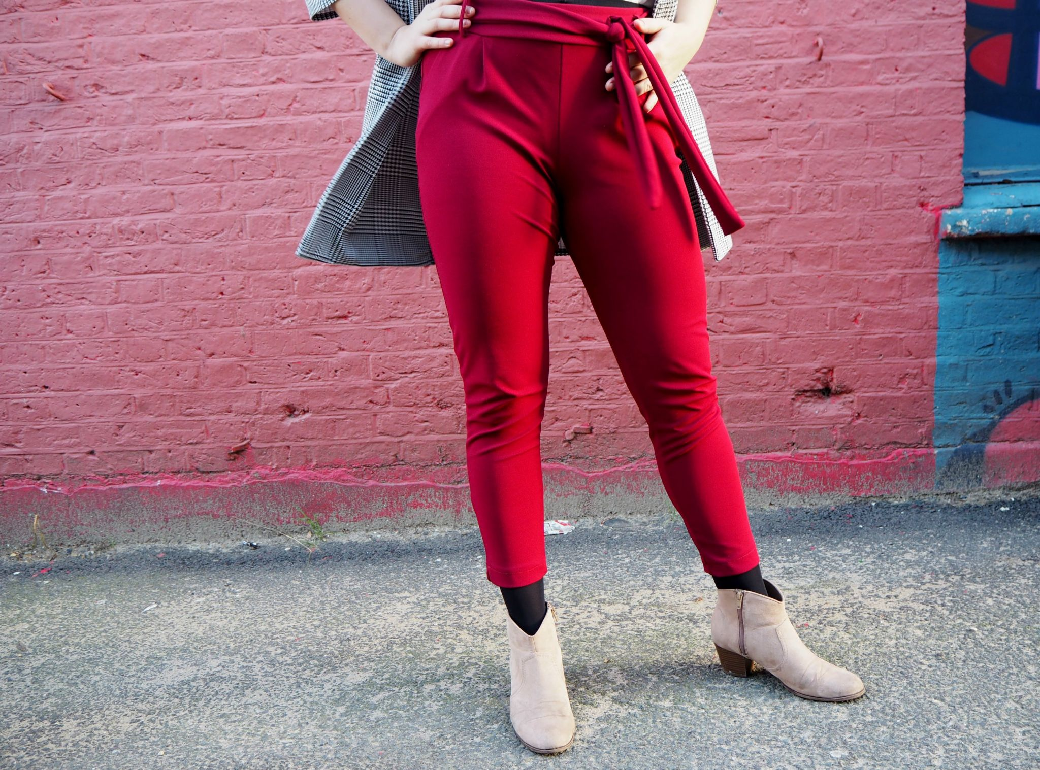 Red Trousers and Boots