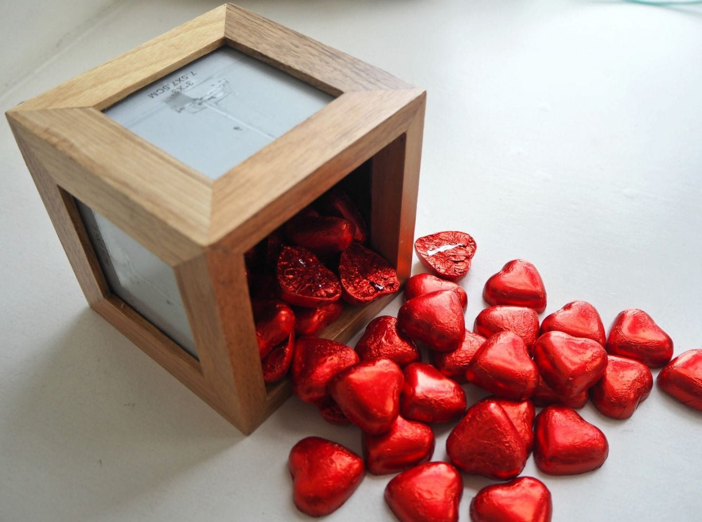 Framed Box with chocolates