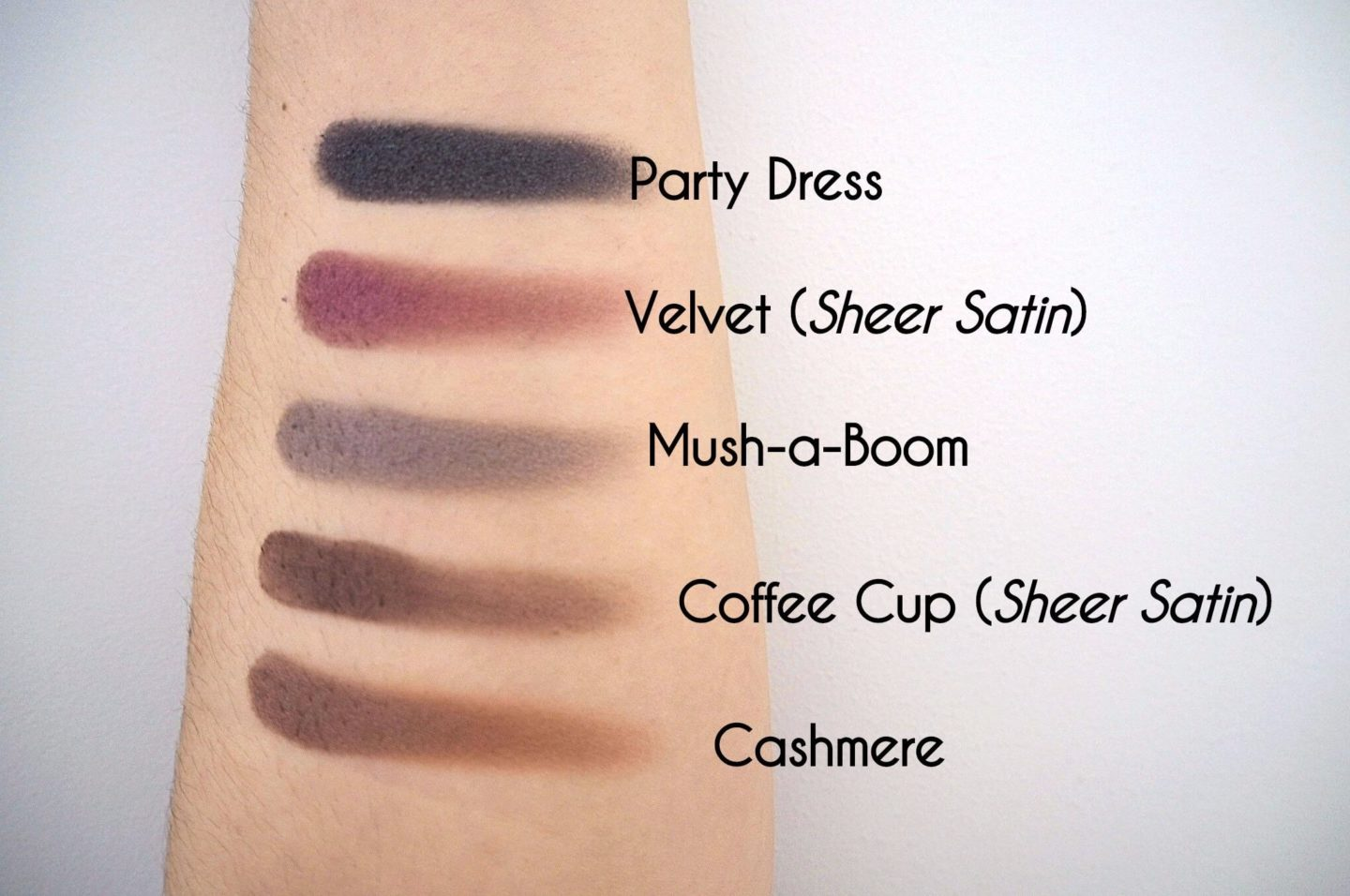 Phase Zero Eyeshadow Swatches