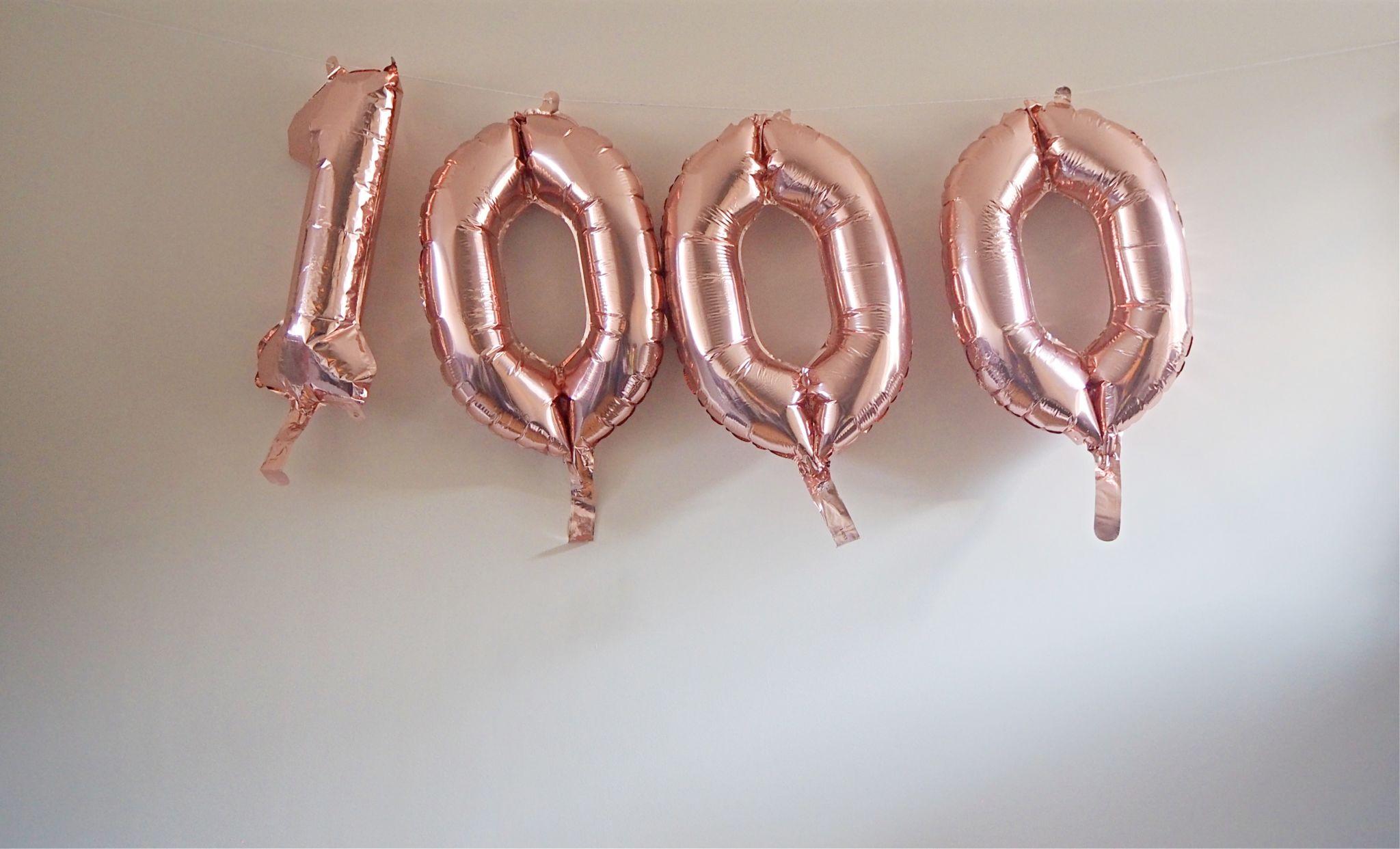 1000 Rose Gold Balloons